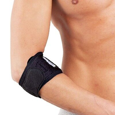 Tennis / Golf Elbow Brace Support Strap : Strain Pain  - One Size Easy Strap