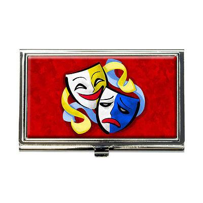 Theatre Drama Masks Business Credit Card Holder Case