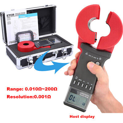 Etcr2100a Digital Clamp Ground Earth Resistance Tester Meter 0.01-200 Ohm