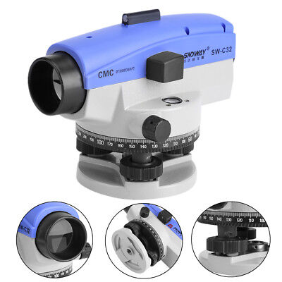 Automatic Level 32x Optical Transit Survey Mag Dampen Autolevel With Carry Case