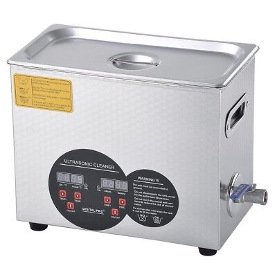 6l Commercial Ultrasonic Cleaner Digital Timer Heater For Jewelry Watch Rings
