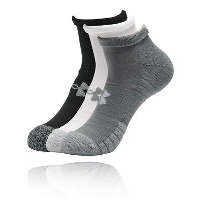 Under Armour Mens HeatGear LoCut Socks - Black Grey White Sports Running Gym