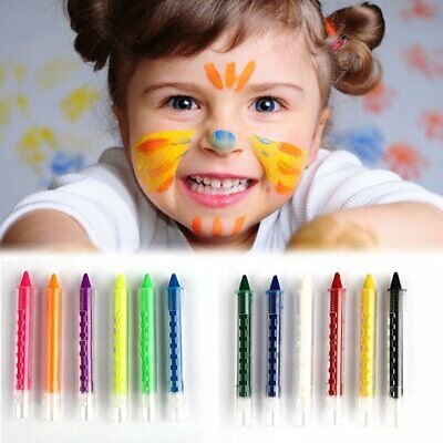 Face Painting Halloween Kids (12 color Face Painting Pencils Paint Kids Body Wax Crayon Sticks Party)