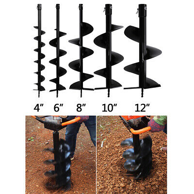 4 6 810 12 Earth Auger Drill Bit Replacement For Gas Power Post Hole Digger