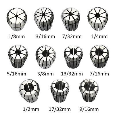 11pcs Er25 Spring Collet Set For Cnc Milling Lathe Tool Engraving Machine T3e4