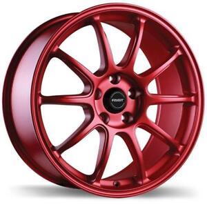 "18"" Fast Wheel Set Honda Civic Accord Mazda Lexus Kia Hyundai Elantra Sonata Impreza 18x8 +35mm Matte Red"