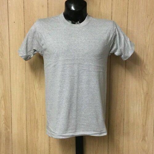Vintage Screen Stars T-Shirt Blank Plain Deadstock Thin Ash Grey S-L USA