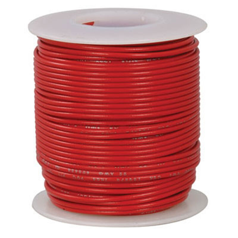 18 AWG Red Stranded Tinned-Copper Hook-Up Wire 100 Feet