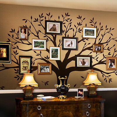 Children Tree Wall Decal - Tree Wall Decal for Picture Frames - Chestnut Brown