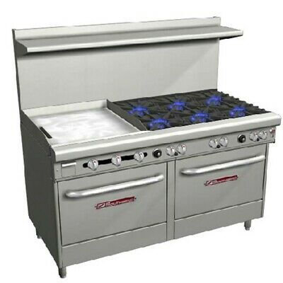 Southbend S60dd-2gl 60 S-series Range W 6 Gas Burners 24 Griddle On Left