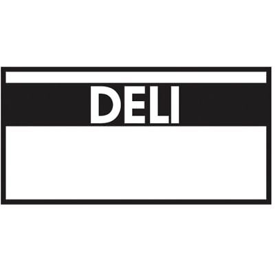 Monarch White Labels With Reversed Black Print Deli For 1110 1-line Pricing