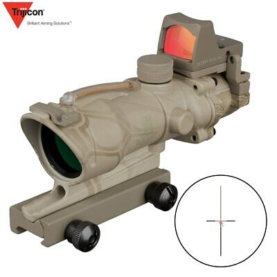 Acog 4x32 Green Fiber Source Real Fiber Scope W  Rmr Micro Red Dot Sight Marked