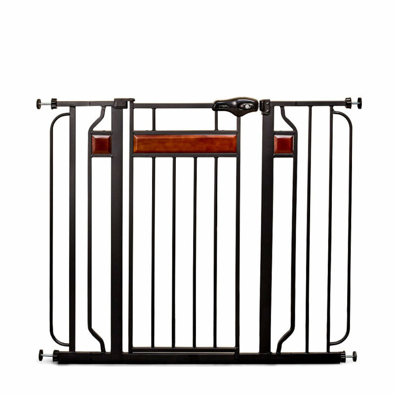 """Regalo Home Accents Extra Tall Designer Adjustable 42"""" Metal Baby Safety Gate"""