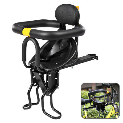 Child Seat for Bike Bicycle Front Mount Quick Dismounting Safety Seat with Pedal
