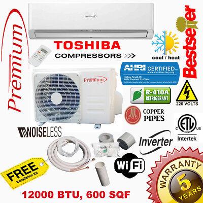 Premium Mini Split 12000 BTU 17 SEER INVERTER System Ductless AC Heat Pump 220V