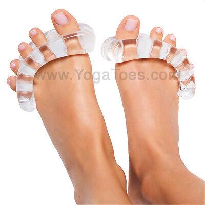 Yoga Toes Yogatoes Gel Toe Stretcher   Separator  Clear