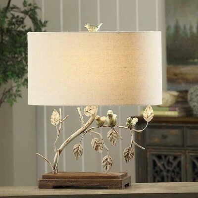 "Bird Trio Table Lamp Shabby Cottage Chic Light Charming  23""H CVAER568"