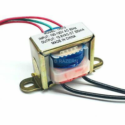 New Philmore 120vac To 12.6vac 300ma Center Tap Power Transformer 6.3v-0-6.3v