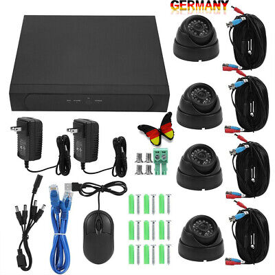 4CH 1080P DVR AHD Video Überwachungskamera 4TB 8 Wifi Außen IP 4-Kanal Kamera BX (Wifi Video überwachungskamera)