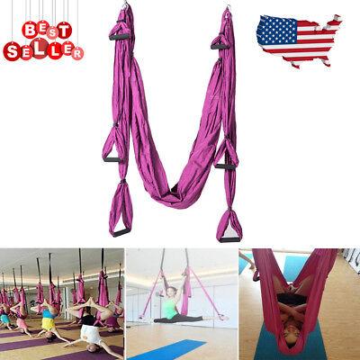 Strong Aerial Hanging Yoga Bearing Swing Sling Hammock Inversion Trapeze Tool