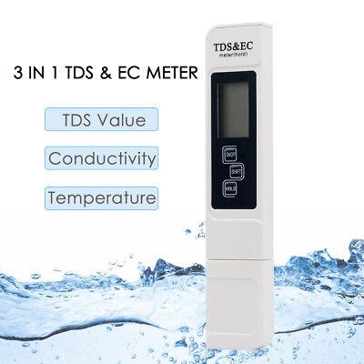 TDS EC Meter Messgerät Digital Tester Wassertest Leitwertmessgerät 0-9990ppm DE
