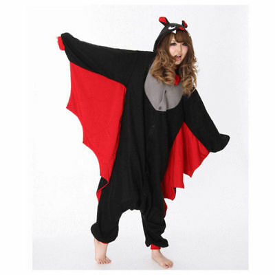 Halloween Bat Onesie16 Kigurumi Fancy Dress Costume Hoodies Adult Cosplay Pajama - Adults Halloween Onesies