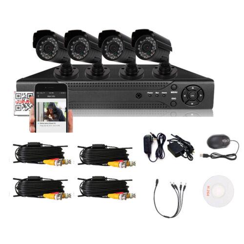 Outdoor HD 800TVL 4CH 960H HDMI CCTV DVR CCTV Home Security Video Camera System