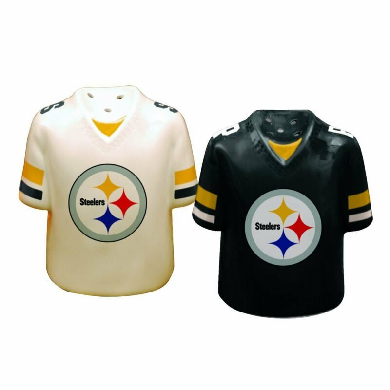 Pittsburgh Steelers Ceramic Jersey Salt and Pepper Shakers