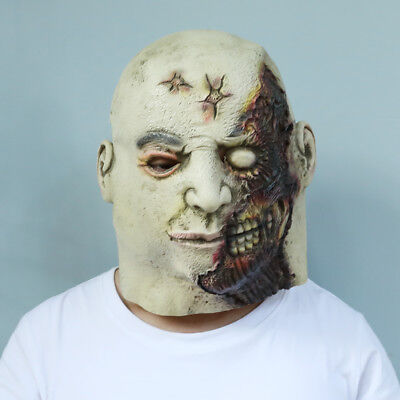 Scary Latex Halloween Masks Cosplay Fancy Dress Zombie Full Face Masks for Adult - Scary Dresses For Halloween