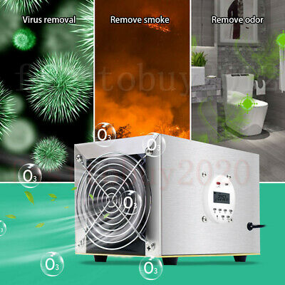 10000mgh Car Room Air Purifier Ozone Generator Odor Remove Disinfection Fresh