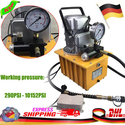 220v Electric Hydraulic Pump Power Pack Pedal Solenoid Valve Controlled 10k Psi