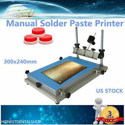 S Size Manual Solder Paste Printer Printing Pcb Smt Stencil Platform Stencil Pcb
