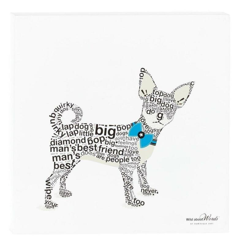 """Chihuahua Dog Wild About Words 12"""" Wall Decor"""