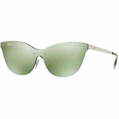 Ray-Ban Blaze Cat Eye Women's Sunglasses W/Green Mirrored Lens RB3580N (Ray Ban Sunglasses Cat Eye)