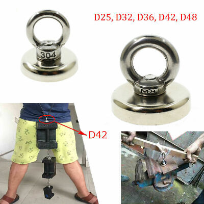 Powerful Recovery Magnet Hook Strong Sea Fishing Diving Treasure Hunting Eyebolt