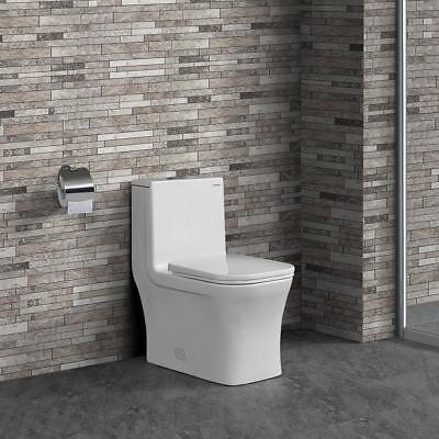 Concorde One Piece Square Toilet Dual Flush 0.8/1.28 gpf - Gpf Dual Flush Toilet