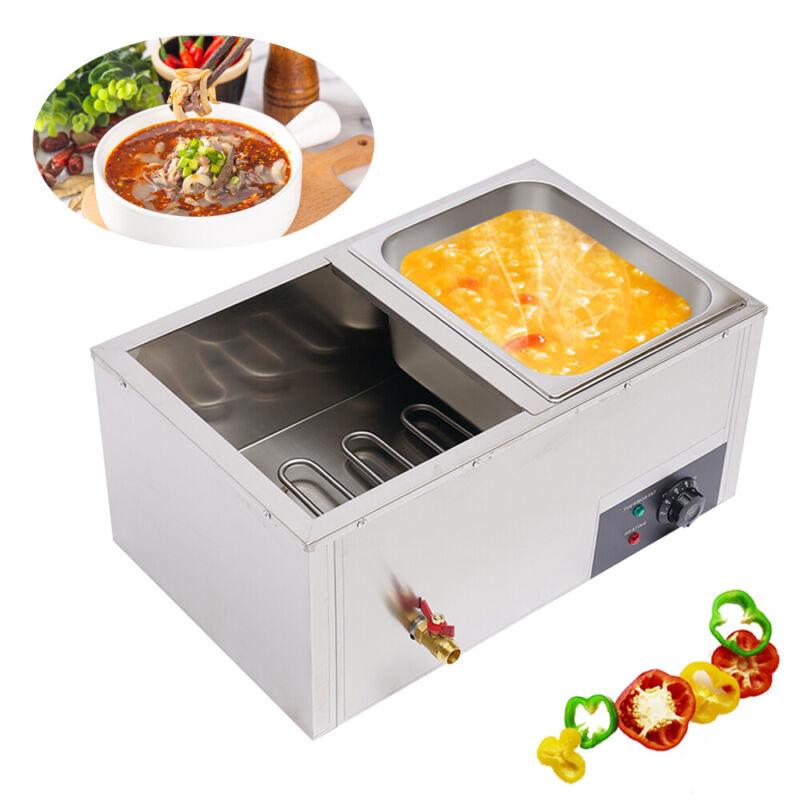 Electric Food Holding & Warming Equipment Countertop Bain-Marie Buffet 2-Pan 10L
