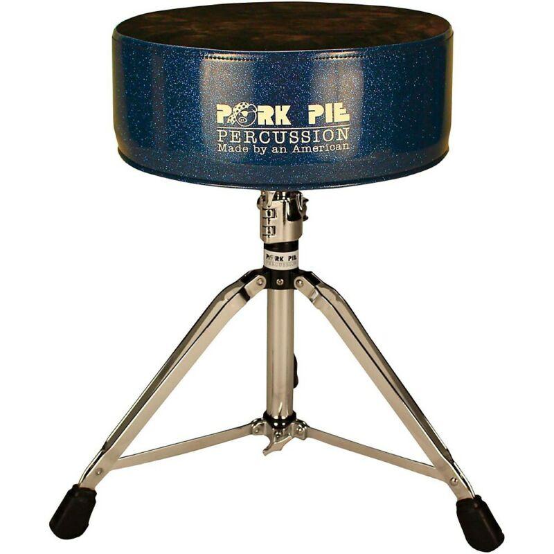 Pork Pie Round Throne with Black Crush Top Blue Sparkle