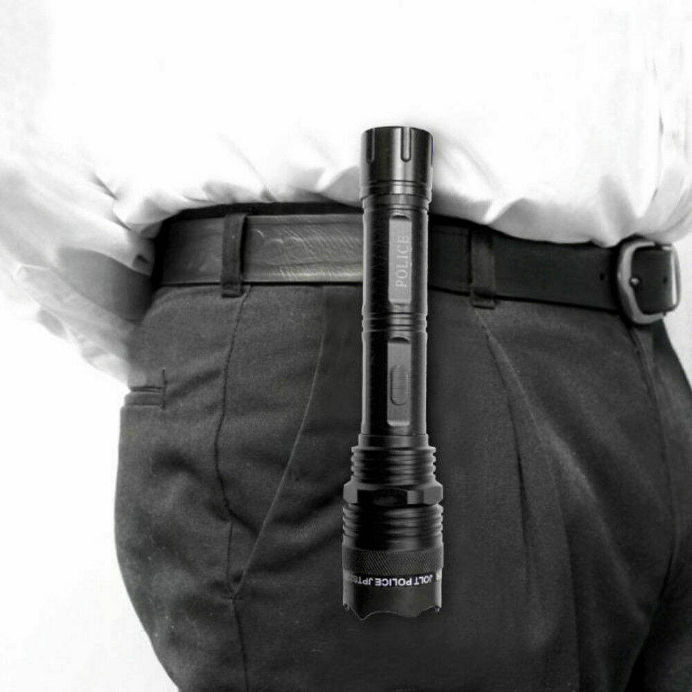 Jolt Police 95,000,000 Tactical STUN GUN Flashlight, Military Grade Rechargeable - $24.88