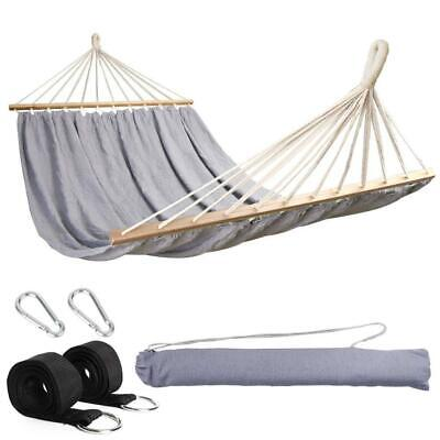 Anyoo Garden Hammock With Wooden Spread Bars Portable Compact Single Hammock