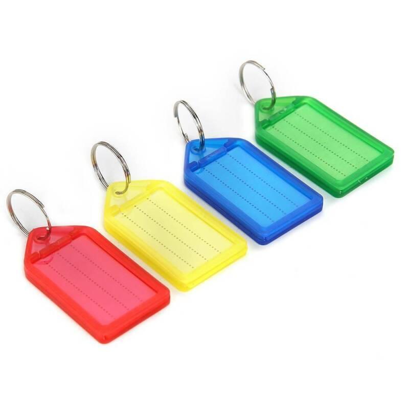 60 Schlüsselanhänger zum Beschriften Schlüsselschilder Anhänger mit Etiketten