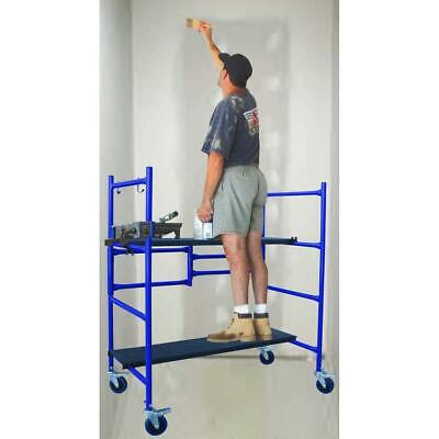 Compact Scaffolding Adjust Platform Casters Drywall Painting Rolling Scaffold