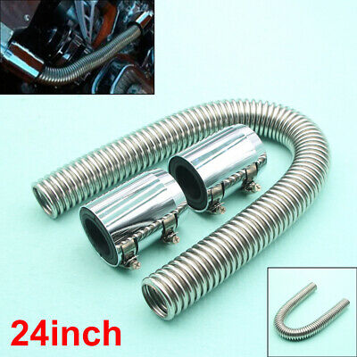 Best Stainless Steel Radiator Hose Kit 24 inch hose universal chrome ends