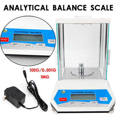 100g X 0.001g Lab Analytical Balance Digital Precision Electronic Scale Weight
