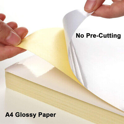 5 Sheets A4 Label Paper Self Adhesive Sticker For Printer Shipping Glossmatte