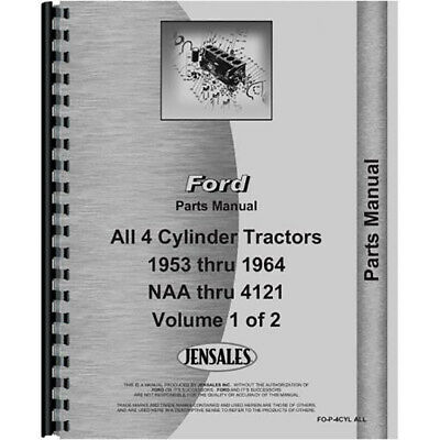 New Parts Manual Fits Ford 800 Tractor