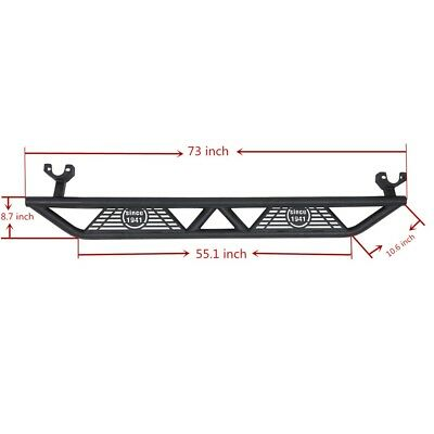 Black Wide Side Step Nerf Bars for 2007-2018 Jeep Wrangler