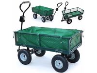 Garden Trolley with drop sides & cover