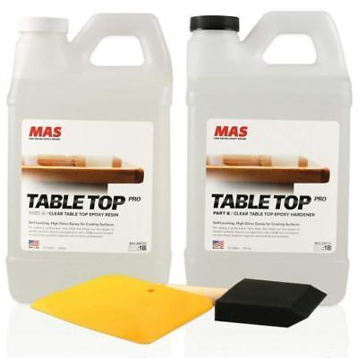 Crystal Clear Epoxy Resin One Gallon Kit Mas Table Top Pro Epoxy Hardener Gr