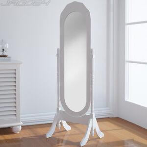 Miroir sur pied psych cosm tique bois pivotant chambre - Miroir sur pied en bois ...
